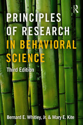 Principles of Research in Behavioral Science by Jr. Whitley