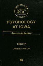 Psychology at Iowa by Joan H. Cantor