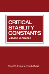 Critical Stability Constants by Arthur Martell