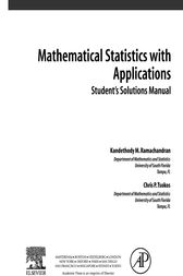 Student Solutions Manual, Mathematical Statistics with Applications by Kandethody M. Ramachandran