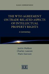 The WTO Agreement on Trade-Related Aspects of Intellectual Property Rights: A Commentary