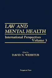 Law and Mental Health by David N. Weisstub