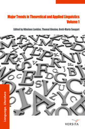 Major Trends in Theoretical and Applied Linguistics 1 by Nikolaos Lavidas