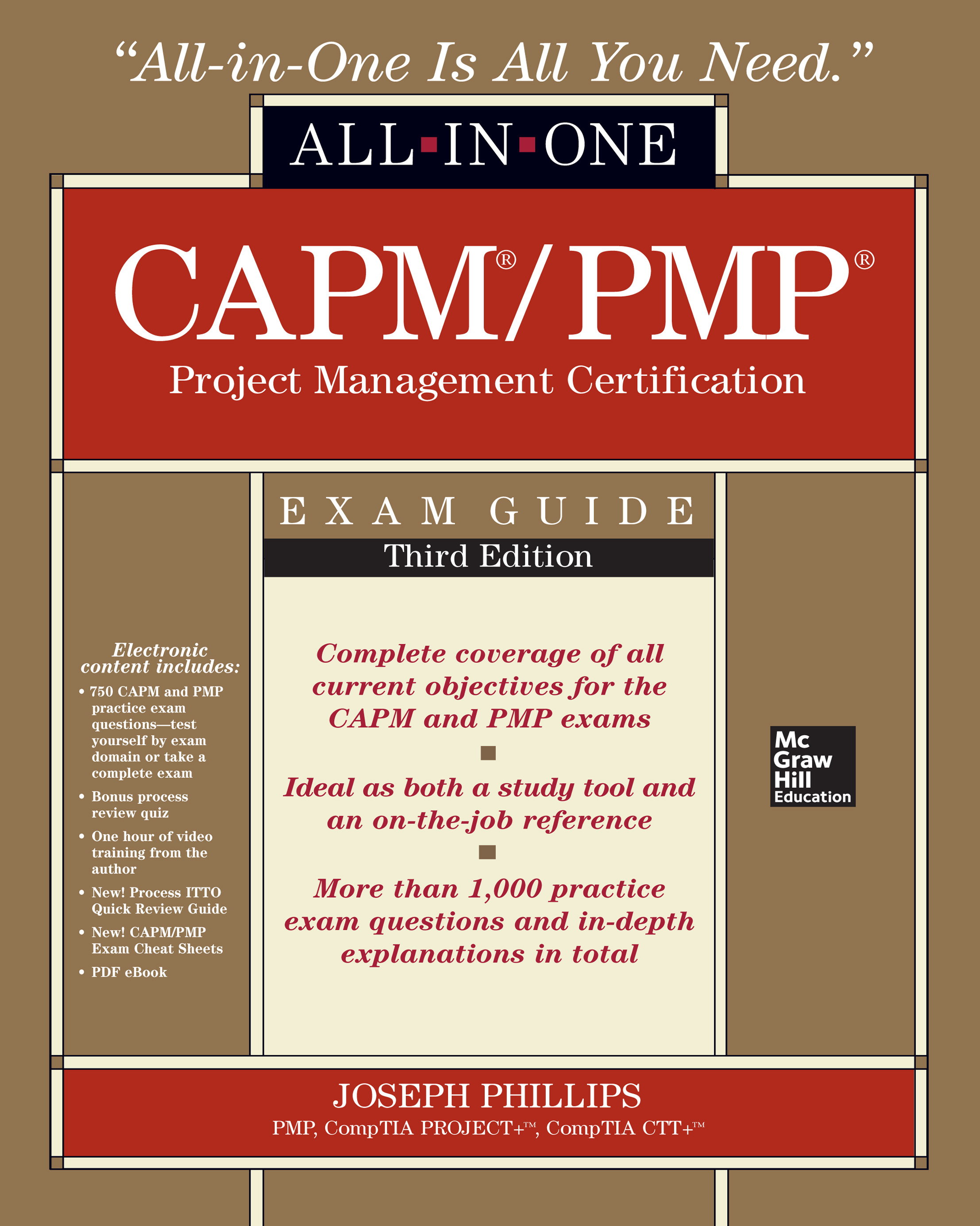 Download Ebook CAPM/PMP Project Management Certification All-In-One Exam Guide, Third Edition (3rd ed.) by Joseph Phillips Pdf