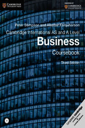 Cambridge International AS and A Level Business Ebook by Peter Stimpson