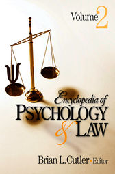 Encyclopedia of Psychology and Law by Brian L. Cutler