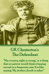 The Defendant by G.K. Chesterton