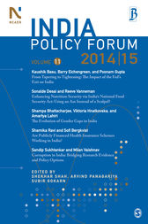 India Policy Forum 2014-15 by Shekhar Shah
