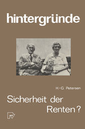 Sicherheit der Renten? by H.-G. Petersen