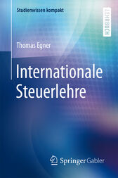 Internationale Steuerlehre by Thomas Egner