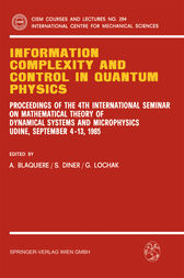 Information Complexity and Control in Quantum Physics by A. Blaquiere