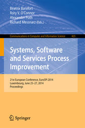 Systems, Software and Services Process Improvement by Béatrix Barafort
