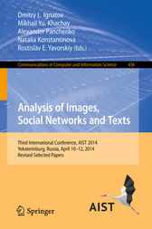 Analysis of Images, Social Networks and Texts by Dmitry I. Ignatov