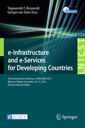 e-Infrastructure and e-Services for Developing Countries by Tegawendé F. Bissyandé