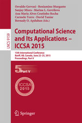 Computational Science and Its Applications -- ICCSA 2015 by Osvaldo Gervasi