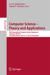 Computer Science -- Theory and Applications by Lev D. Beklemishev