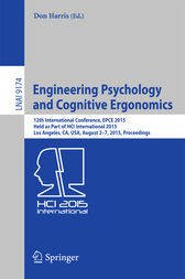 Engineering Psychology and Cognitive Ergonomics by Don Harris