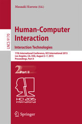 Human-Computer Interaction: Interaction Technologies by Masaaki Kurosu