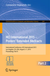 HCI International 2015 - Posters' Extended Abstracts by Constantine Stephanidis