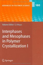 Interphases and Mesophases in Polymer Crystallization I by Giuseppe Allegra