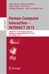 Human-Computer Interaction – INTERACT 2015 by Julio Abascal