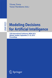 Modeling Decisions for Artificial Intelligence by Vicenc Torra