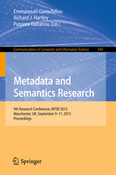 Metadata and Semantics Research by Emmanouel Garoufallou