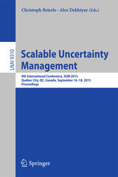 Scalable Uncertainty Management by Christoph Beierle