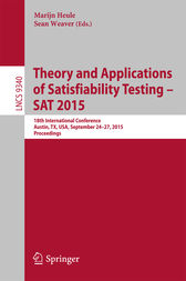 Theory and Applications of Satisfiability Testing -- SAT 2015 by Marijn Heule