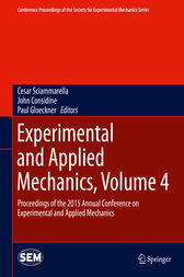 Experimental and Applied Mechanics, Volume 4 by Cesar Sciammarella
