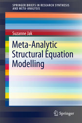 Meta-Analytic Structural Equation Modelling by Suzanne Jak