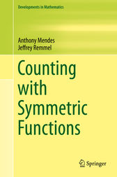 Counting with Symmetric Functions by Jeffrey Remmel