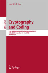 Cryptography and Coding by Jens Groth