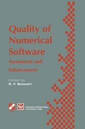 Quality of Numerical Software by Ronald F. Boisvert