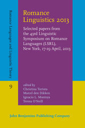Romance Linguistics 2013 by Christina Tortora