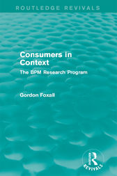 Consumers in Context by Gordon Foxall