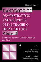 Handbook of Demonstrations and Activities in the Teaching of Psychology by Mark E. Ware