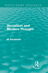 Socialism and Modern Thought by M. Kaufmann