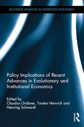 Policy Implications of Evolutionary and Institutional Economics by Claudius Grabner