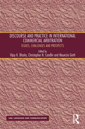 Discourse and Practice in International Commercial Arbitration by Christopher N. Candlin