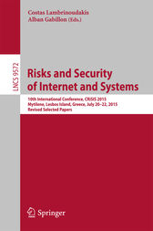 Risks and Security of Internet and Systems by Costas Lambrinoudakis