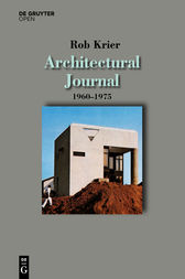Architectural Journal 1960-1975 by Rob Krier