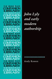 John Lyly and early modern authorship