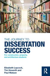 The Journey to Dissertation Success by Elizabeth Laycock