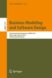 Business Modeling and Software Design by Boris Shishkov
