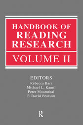 Handbook of Reading Research, Volume II by Rebecca Barr