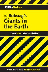 CliffsNotes on Rolvaag's Giants In the Earth by Frank B. Huggins