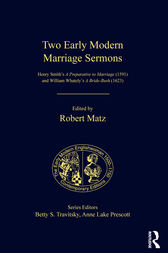 Two Early Modern Marriage Sermons by Robert Matz